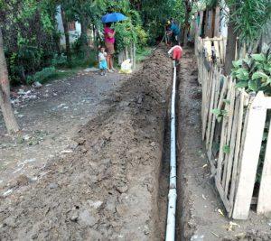 """Instaladas en el Barrio La Enea, 350 mts de tubería 3"""" PVC RDE 21"""